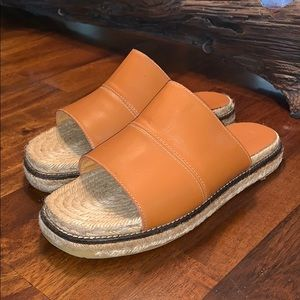 Coach Lola Brown Leather Slides